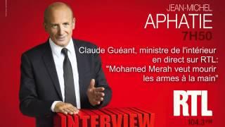 Claude Guéant - invité de RTL en direct: Mohamed Merah veut mourir les armes à la main - RTL - RTL