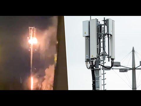 5G Tower On Fire Around The World 2020