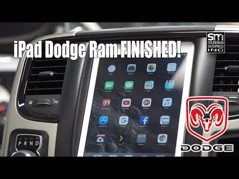 The Finished Dodge IPad Panel!