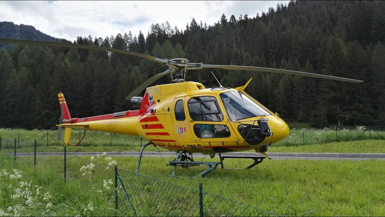 Elicottero B3 : Decollo ecureuil as b da pozza di fassa youtube