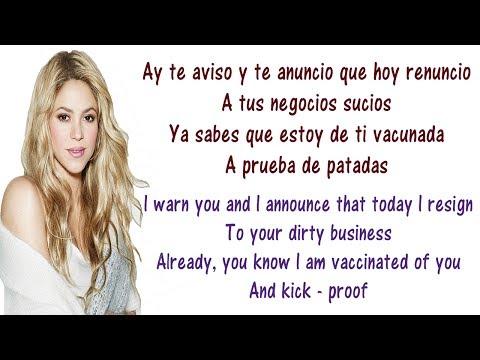Shakira - Te Aviso, Te Anuncio Objection Lyrics English and Spanish - Translation & Meaning