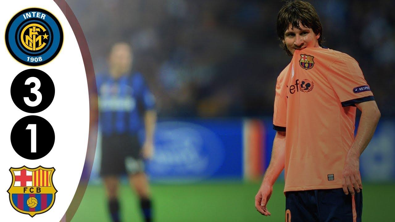 Inter Milan Vs Barcelona Ucl 3 1 2009 2010 Full Highlights Hd Youtube