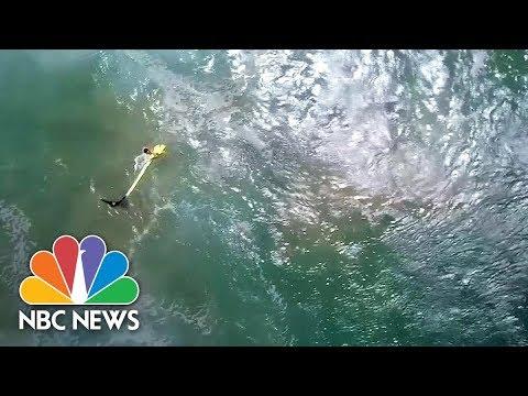 Lifesaving Drone Rescues Swimmers Off Australian Coast | NBC News
