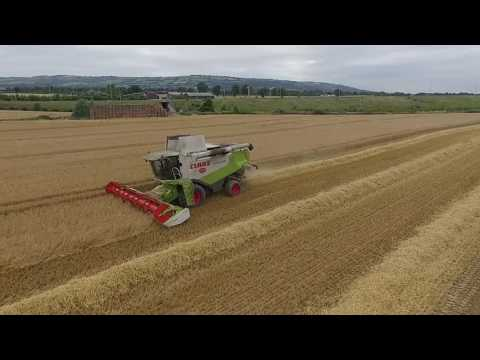 Harvesting captured from the sky in Co Carlow  july 2017