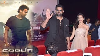 Prabhas MACHO ENTRY With CUTE Shraddha Kapoor At Saaho Trailer Launch Event In Mumbai