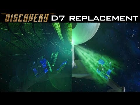 "Thumbnail: Klingon D7 ""Canon"" CGI Replacement Scene - ST: Discovery"