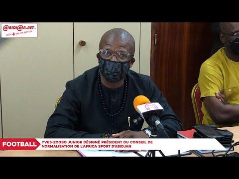 Football : Yves Zogbo Junior désigné président du Conseil de Normalisation de l'Africa Sport