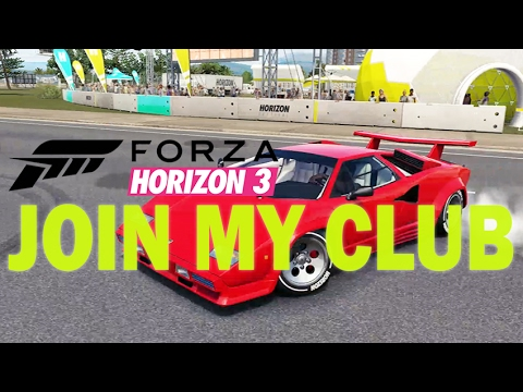 JOIN MY NEW CLUB ONLINE!! | INSANE COUNTACH!!  | Forza Horizon 3 with Steering Wheel