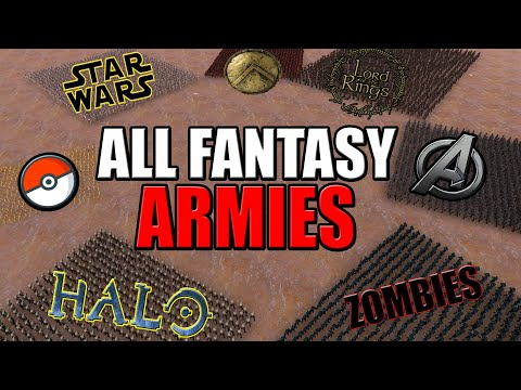 ALL Fantasy ARMIES Battle Royale! - (UEBS: Star Wars, LOTR, Halo, Marvel Avengers, Zombies Mods)