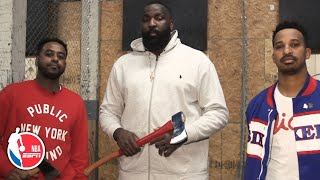 Axe throwing with Kendrick Perkins, Amin Elhassan and 76ers' Christian Crosby | Hoop Streams