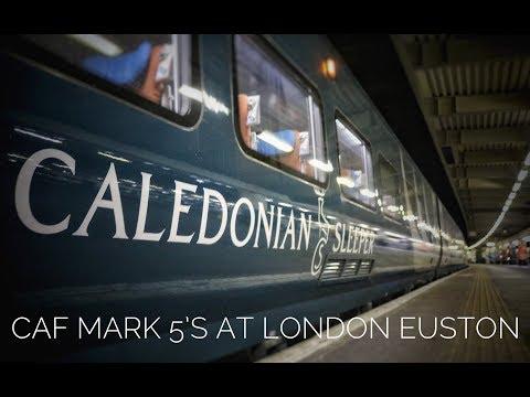 Serco Caledonian Sleeper CAF Mark 5 Test Run at London Euston *HD*