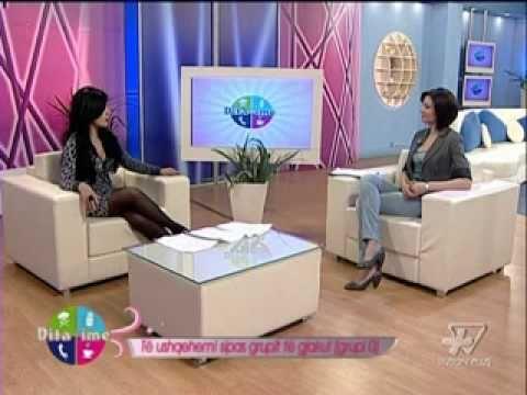 Anila Kalleshi -Interviste Dita ime 26 1 2011 - Te ushqyerit sipas grupit te gjakut 0