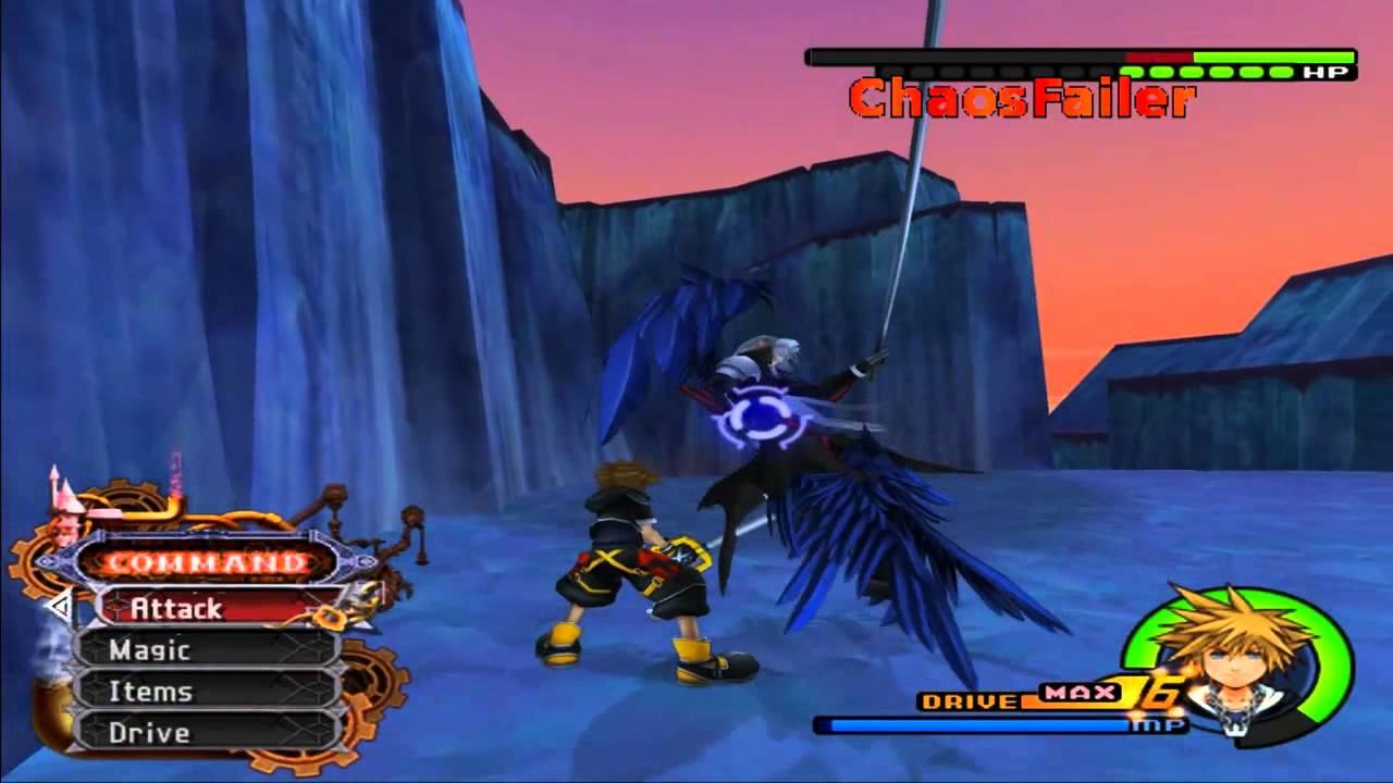 Kingdom Hearts 2 Final Mix Sephiroth Critical Mode Level 1 Hd