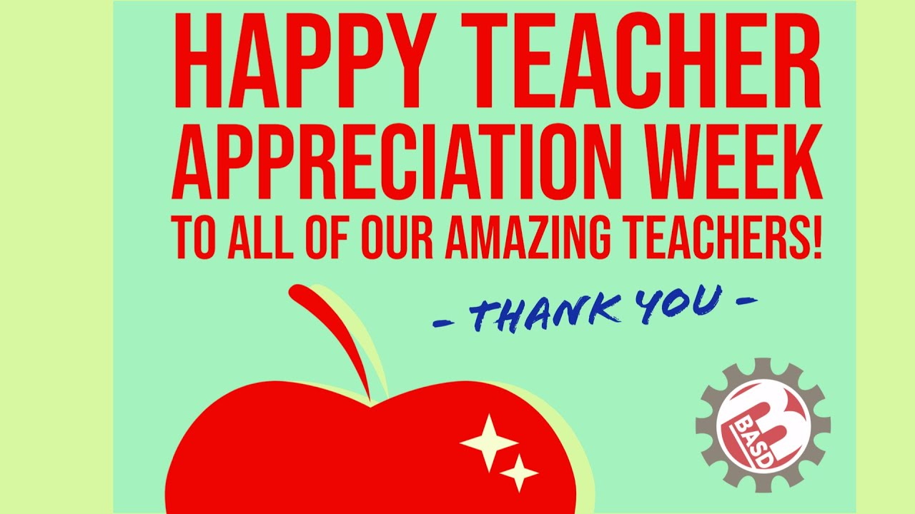 Happy Teacher Appreciation Day 2020 - YouTube