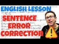 English learning video - Sentence correction