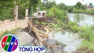THVL | Sạt lở hàng chục mét đường dân sinh tại Đồng Tháp