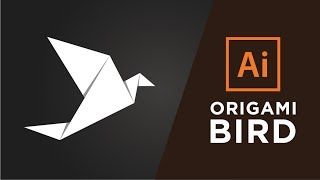 How to Make a Origami Bird in Adobe illustrator CC 2015/2017
