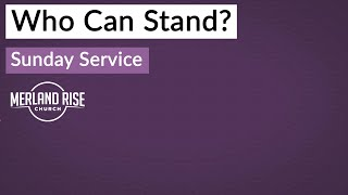 Who Can Stand? - Richard Powell - 17th October 2021 - MRC Live