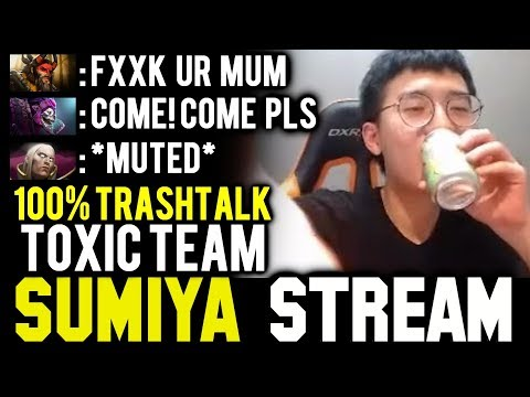 Trashtalk Level = 99, SUMIYA with Toxic Team   Sumiya Invoker Stream Moment #506