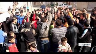 مظاهرات في تلبيسة تضامناً مع مدنيي وادي بردى