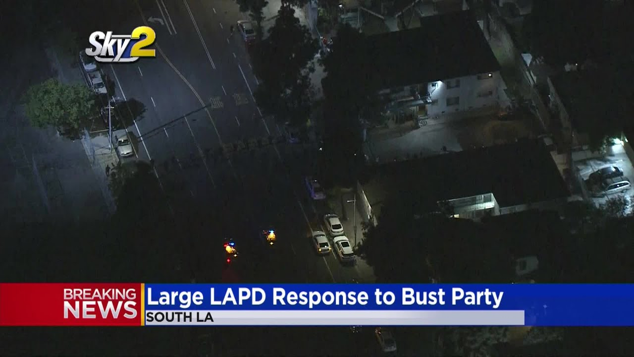 LAPD Breaks Up Large Party In South LA
