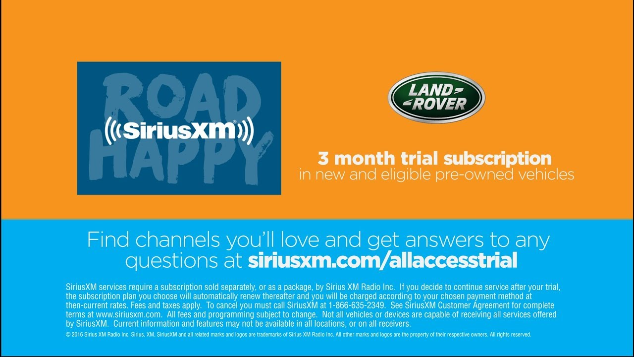 Siriusxm Cancel Subscription >> Land Rover Siriusxm Dealer Portal