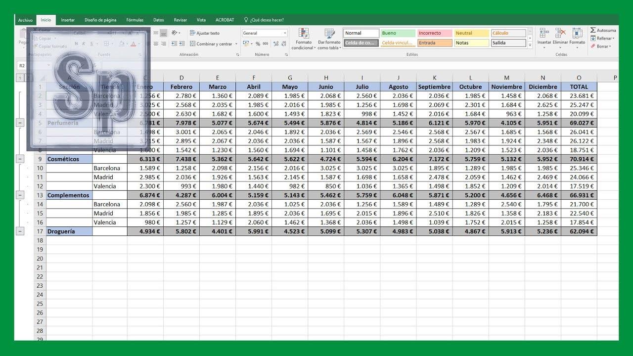Excel Cómo Juntar Tablas En Una Sola Concatenar Tablas En Excel Tutorial En Español Hd Youtube