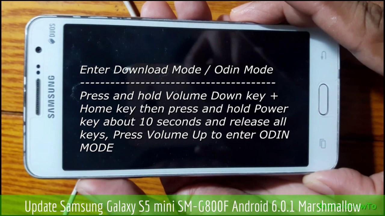 Update Samsung Galaxy S5 mini SM-G800F Android 6 0 1 Marshmallow
