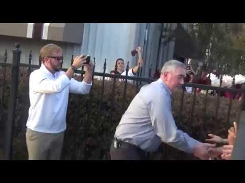 New MSU head football coach Joe Moorhead arrives in Starkville, November 29, 2017