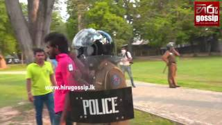 SAITM Protesters hit with tear gas