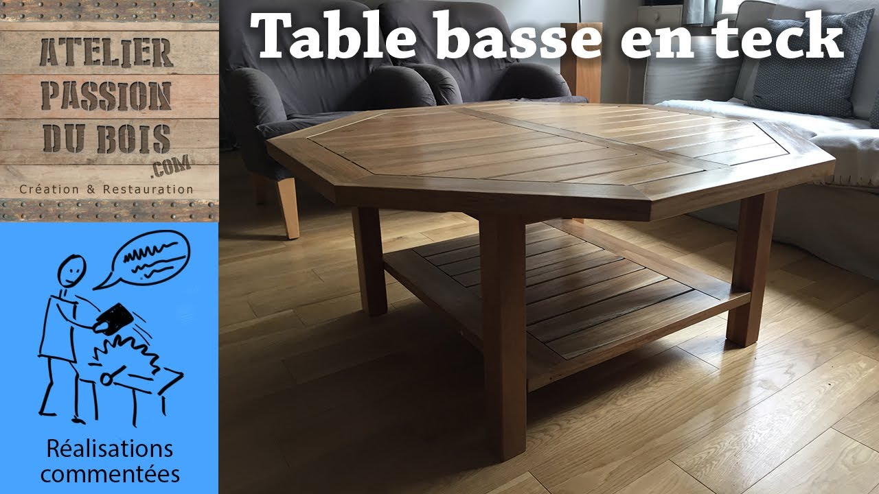 transformer une table de jardin en teck en table basse upcylcing recylcing youtube. Black Bedroom Furniture Sets. Home Design Ideas
