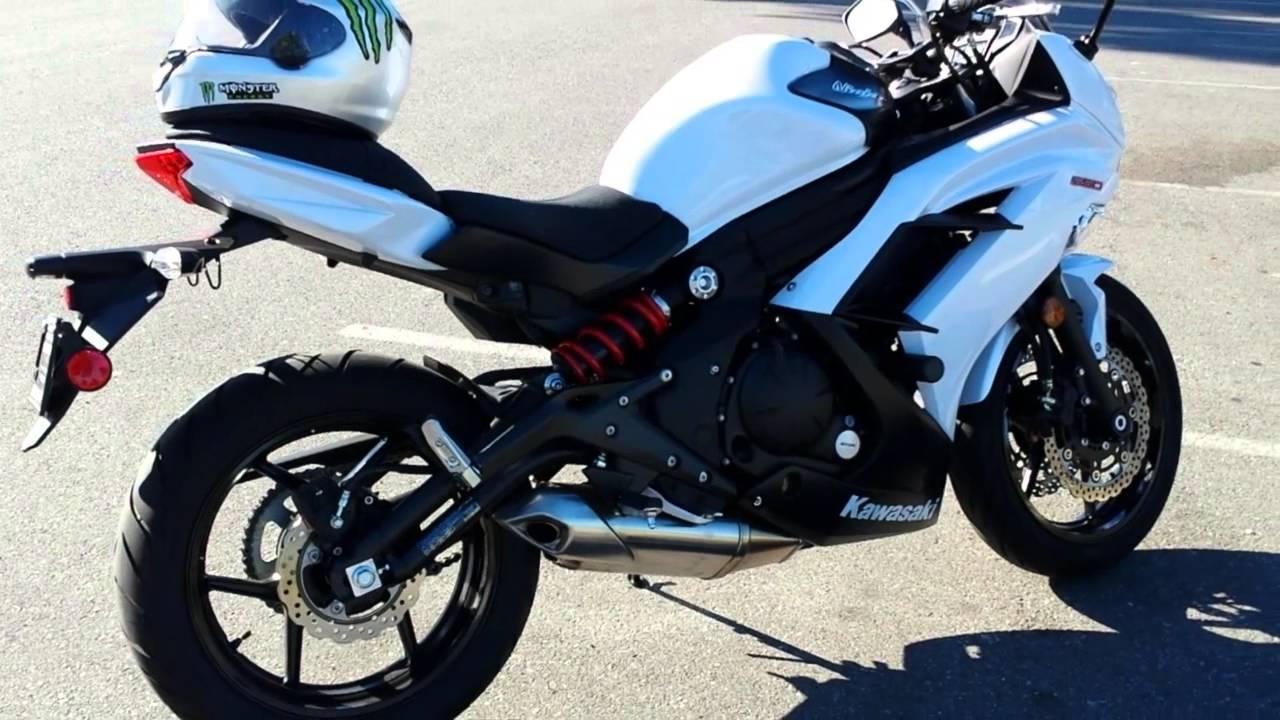 2013 Ninja 650 walkaround and 2015 Yamaha FZ-07 comparison - YouTube