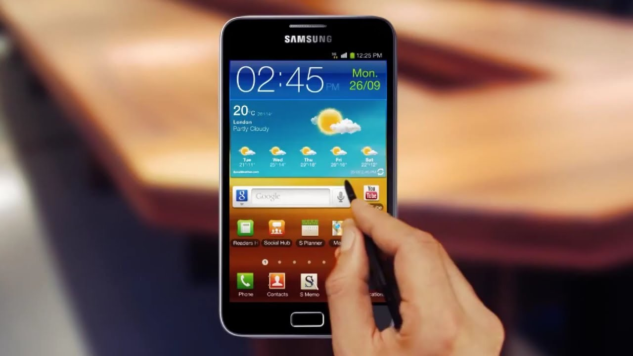 Samsung Galaxy Note Official Video Youtube