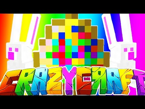 EASTER BUNNY INFINITE EGGS w/ TEWTIY, ALEXACE, AND FRIZZLENPOP - MINECRAFT CRAZY CRAFT SURVIVAL #4