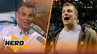 Colin Cowherd talks Giants draft rumors, Pats open to trading Gronk | THE HERD