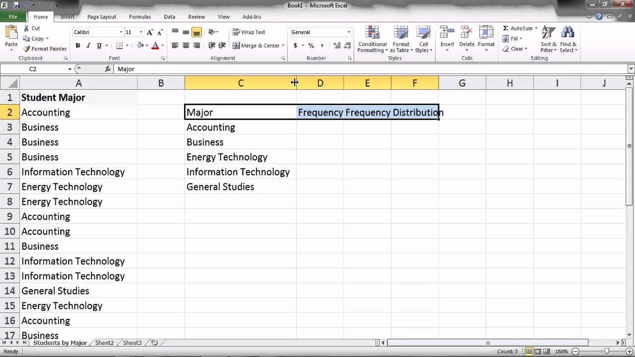 Excel 2010 ch 5 statistical analysis i qualitative data for Excel 2010 survey template