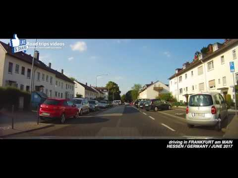 ROAD TRIP: driving in and around FRANKFURT am MAIN / HESSEN / GERMANY / JUNE 2017