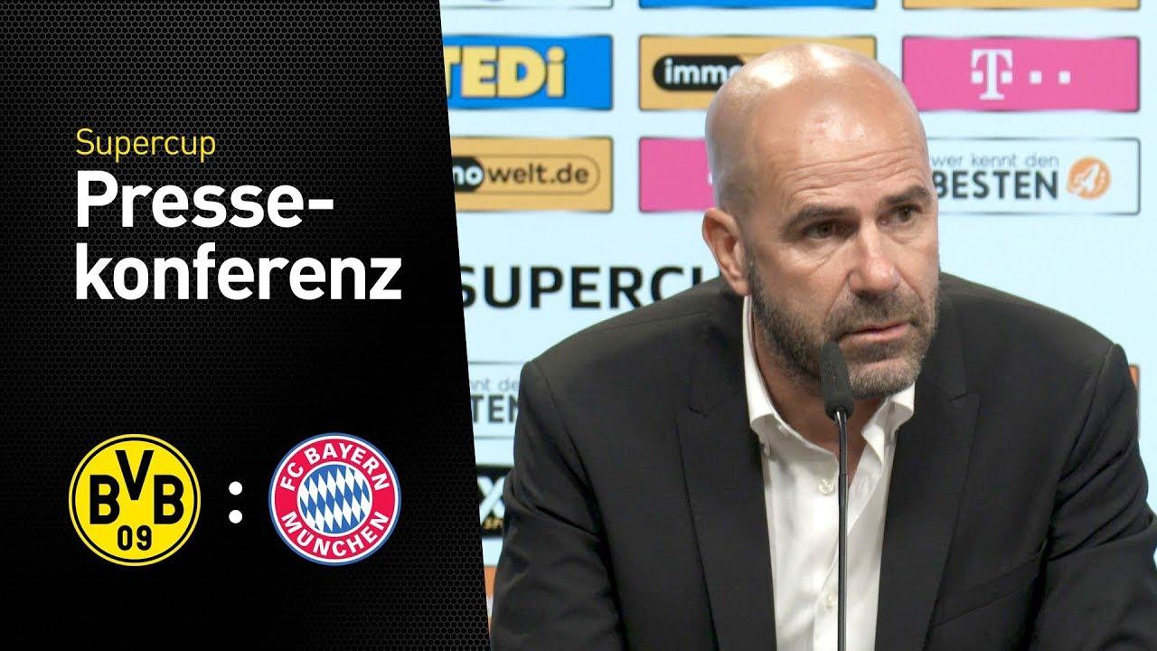 Pressekonferenz nach dem Supercup   BVB - Bayern München 6:7 n.E.