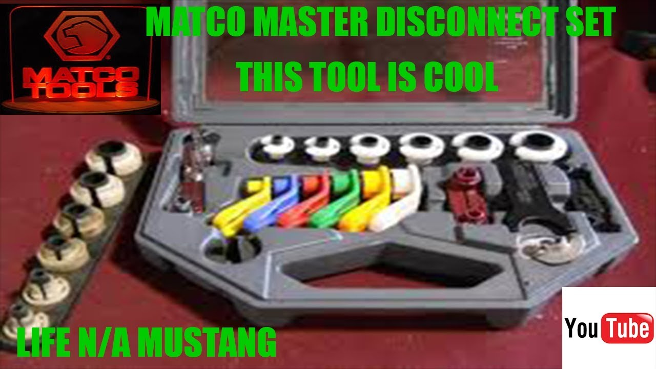 Matco Master Disconnect Set Mds399 This Tool Is Cool Episode 13 Ford Mustang Fuel Filter Location
