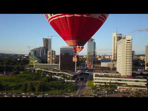 Hot air balloon takeoff filmed with drone