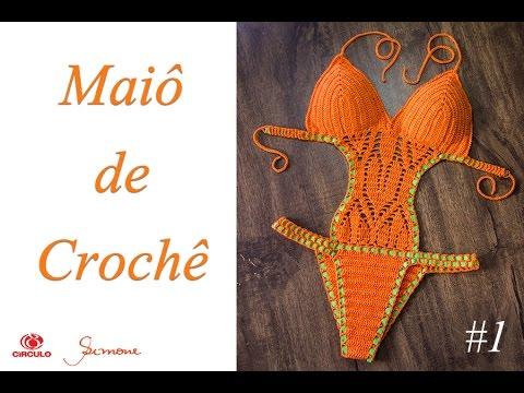 42ccc8f00a Maiô de Crochê Body parte 1 - Simone Eleotério - YouTube