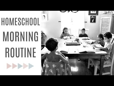 HOMESCHOOL ROUTINE | Classical Conversations & Mom of 5 Morning Routine