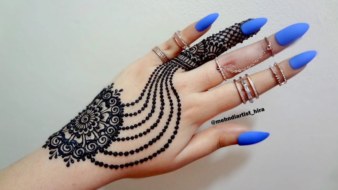 Diy Beautiful Trendy Stylish Simple Henna Jewelery Ornamental Mehndi Designs For Hands For Eid Party
