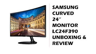 "Samsung Curved 23.6"" LC24F390 Monitor Review"