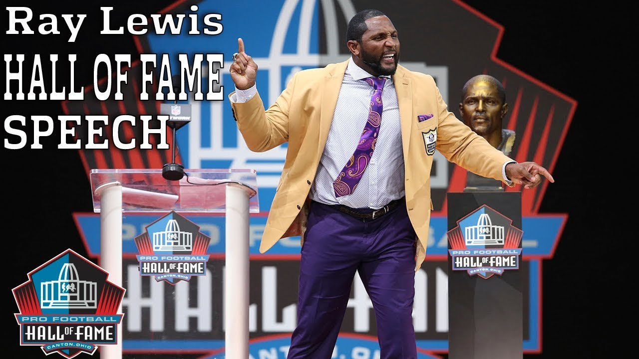 Ray Lewis FULL Hall of Fame Speech  7cb1495ff