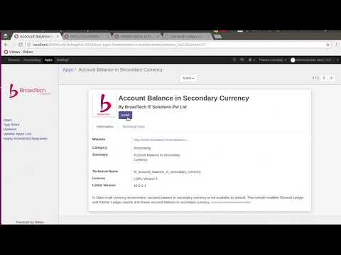 account balance in secondary currency