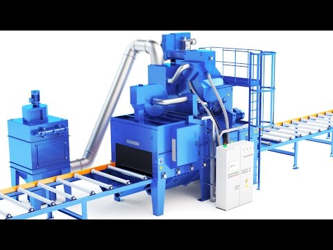 Shot Blasting Machine (3D Visualization)