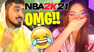 My Boyfriend Tyceno carries me in NBA 2K21.. *HILARIOUS*