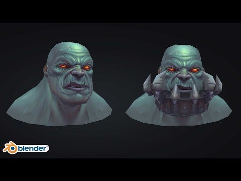 | Game Art | League of Legends Sion Handpainted Texturing in Blender