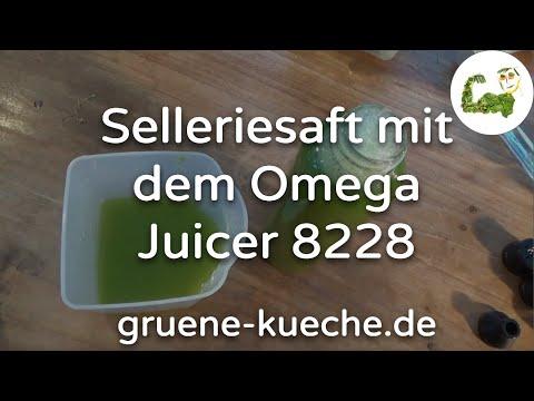 Omega Juicer 8228 - Verarbeitung von Staudensellerie (Teil 2/4)